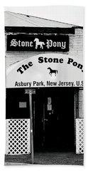 The Stone Pony Asbury Park Nj Beach Sheet by Terry DeLuco
