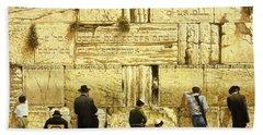 The Western Wall  Jerusalem Beach Sheet by Graham Braddock