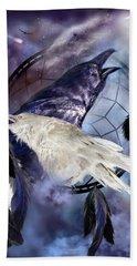 The White Raven Beach Sheet by Carol Cavalaris