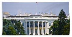 The Whitehouse - Washington Dc Beach Sheet by Bill Cannon