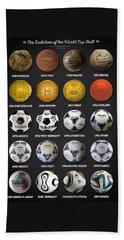 The World Cup Balls Beach Sheet by Taylan Soyturk