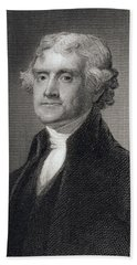 Thomas Jefferson Beach Towel by Gilbert Stuart