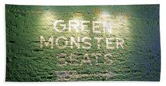 To The Green Monster Seats Beach Sheet by Barbara McDevitt