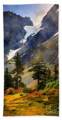 Top Of Cascade Pass Beach Towel by Inge Johnsson