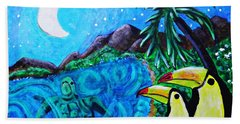 Toucan Bay Beach Towel by Sarah Loft