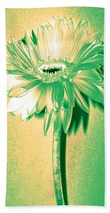 Touch Of Turquoise Zinnia Beach Towel by Sherry Allen