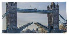 Tower Bridge Opened Beach Towel by Chris Thaxter