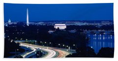 Traffic On The Road, Washington Beach Towel by Panoramic Images