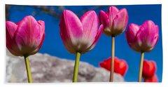 Tulip Revival Beach Towel by Chad Dutson