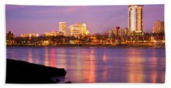 Tulsa Oklahoma - University Tower View Beach Towel by Gregory Ballos