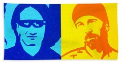 U2 Beach Towel by John  Nolan