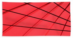 Red And Black Abstract Beach Towel by Tony Grider