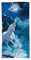 Unicorn Beach Towel by Andrew Farley