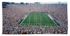 University Of Michigan Football Game Beach Sheet by Panoramic Images