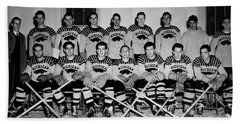 University Of Michigan Hockey Team 1947 Beach Sheet by Mountain Dreams