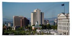 Utah State Capitol Building, Salt Lake Beach Towel by Panoramic Images