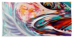 Vanishing Native - Steelhead Trout Flyfishing Art Beach Sheet by Savlen Art