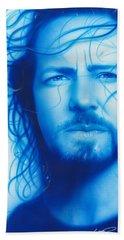 Eddie Vedder - ' Vedder ' Beach Towel by Christian Chapman Art