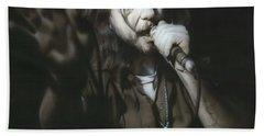 Eddie Vedder - ' Vedder IIi ' Beach Towel by Christian Chapman Art