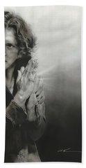 Eddie Vedder - ' Vedder Iv ' Beach Towel by Christian Chapman Art