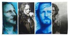 Eddie Vedder - ' Vedder Mosaic I ' Beach Towel by Christian Chapman Art