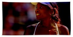 Venus Williams Beach Sheet by Marvin Blaine