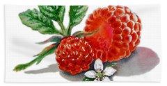 Artz Vitamins A Very Happy Raspberry Beach Towel by Irina Sztukowski