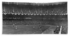View Of Yankee Stadium Beach Towel by Underwood Archives
