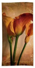Vintage Calla Lily Beach Towel by Jessica Jenney