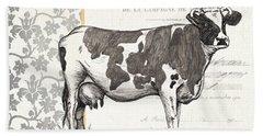 Vintage Farm 1 Beach Towel by Debbie DeWitt