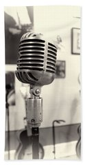 Vintage Microphone Sun Studio Beach Sheet by Dan Sproul