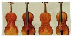 Violins Beach Towel by Alfred James Hipkins