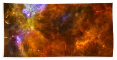 Beach Towel featuring the photograph W3 Nebula by Science Source