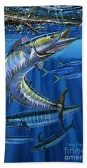 Wahoo Rip Off0047 Beach Towel by Carey Chen