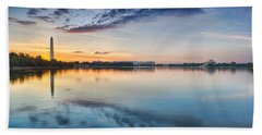 Washington Dc Panorama Beach Towel by Sebastian Musial