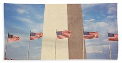 Washington Monument Washington Dc Usa Beach Sheet by Panoramic Images