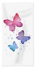 Watercolor Butterflies Beach Sheet by Olga Shvartsur
