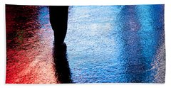 Times Square Watercolours Beach Towel by Dave Bowman