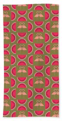 Watermelon Flamingo Print Beach Towel by Susan Claire