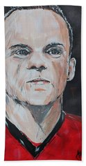Wayne Rooney Beach Towel by John Halliday