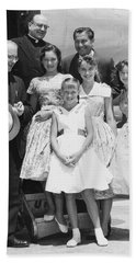 Welk And The Lennon Sisters Beach Towel by Underwood Archives