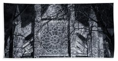 Westminster Abbey North Transept Beach Towel by Joan Carroll