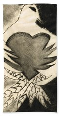 White Dove Art - Comfort - By Sharon Cummings Beach Towel by Sharon Cummings