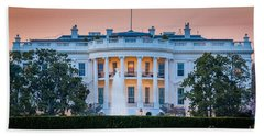 White House Beach Towel by Inge Johnsson