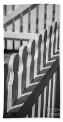 White Picket Fence Portsmouth Beach Sheet by Edward Fielding