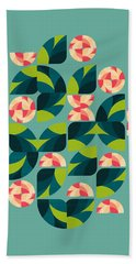 Wild Roses Beach Towel by VessDSign