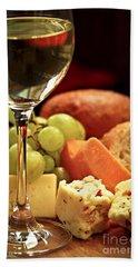 Wine And Cheese Beach Sheet by Elena Elisseeva