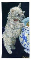 Winnie The Koi Watcher Beach Towel by Kimberly McSparran