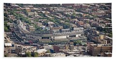Wrigley Field - Home Of The Chicago Cubs Beach Sheet by Adam Romanowicz