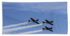 Yak 52 Tw By Three Beach Sheet by CJ Schmit